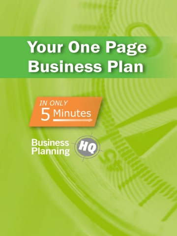 Screenshots of 5Min Business Plan for iPad