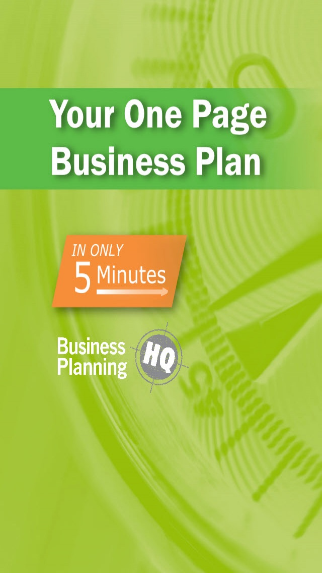 Screenshots of 5Min Business Plan for iPhone