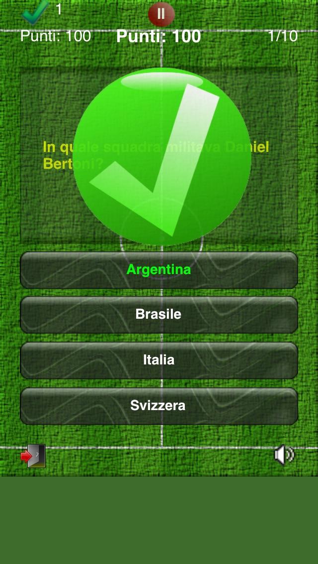 Screenshot of MundialQuiz - Il gioco a quiz sull'evento principale del calcio!2