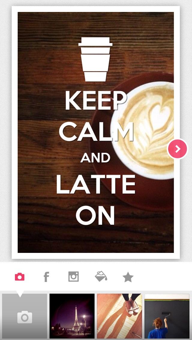Keep Calm - Turn your instagram, facebook photos into Keep Calm poster with KeepCalmrScreenshot of 3