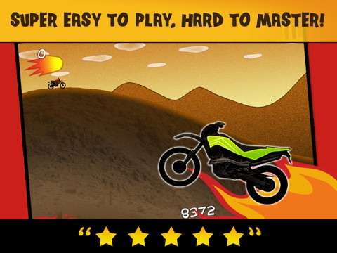 Screenshots of Motorcycle Bike Race Fire Chase Game - Pro Top Racing Edition for iPad
