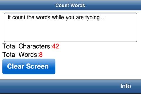 Count Words & Characters screenshot 2
