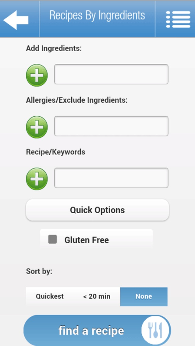Recipes by Ingredients iPhone