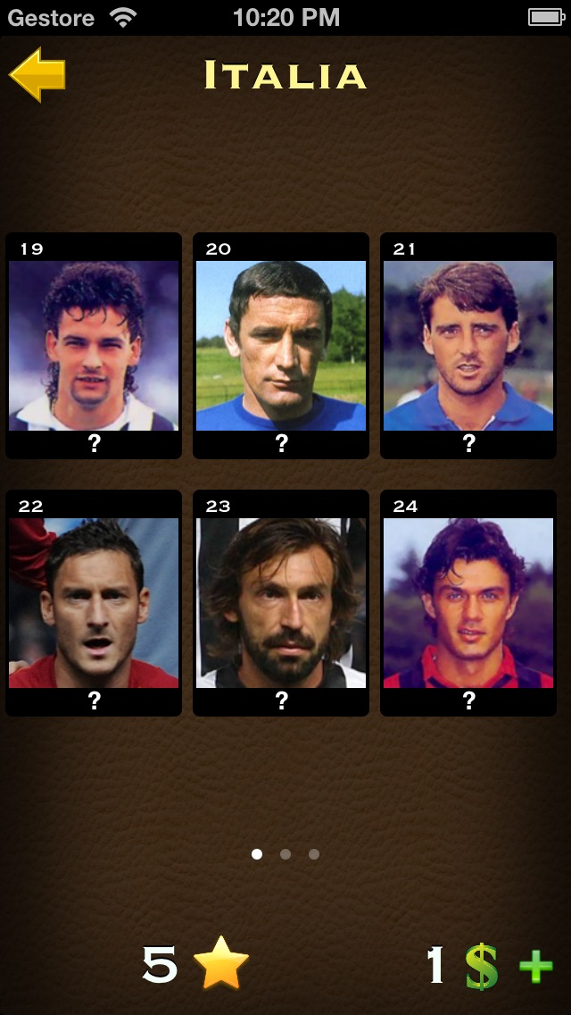 Screenshot of Calcio Quiz: Calciatori del Mondo1