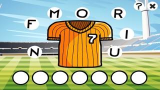 农行动画拼字比赛儿童:学习英语阅读与写作与足球世界杯的数字。游戏的乐趣为孩子和家屏幕截图1