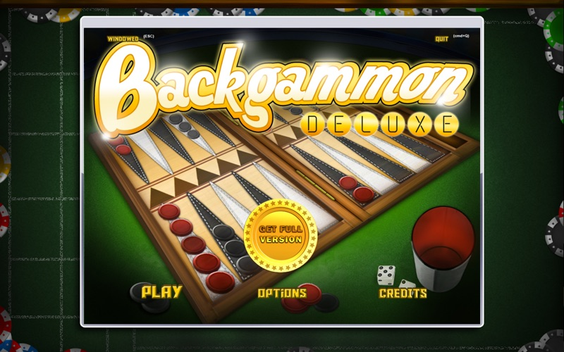 Backgammon Deluxe Free! Screenshot