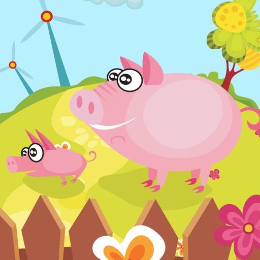活躍的兒童遊戲2-5歲左右的農場的動物: 學習 幼兒園,學前班或幼兒園