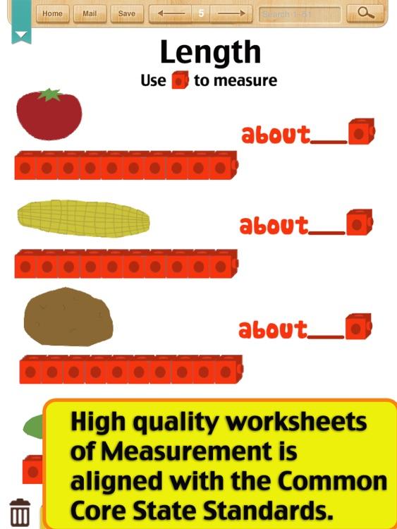 Kids Math-Measurement Worksheets(Grade 1) by ShiXian Li