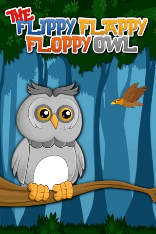The Flippy Flappy Floppy Owl - A Tap Flap and Fly Bird Game screenshot 1