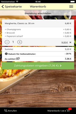 pizza mann Augsburg screenshot 3