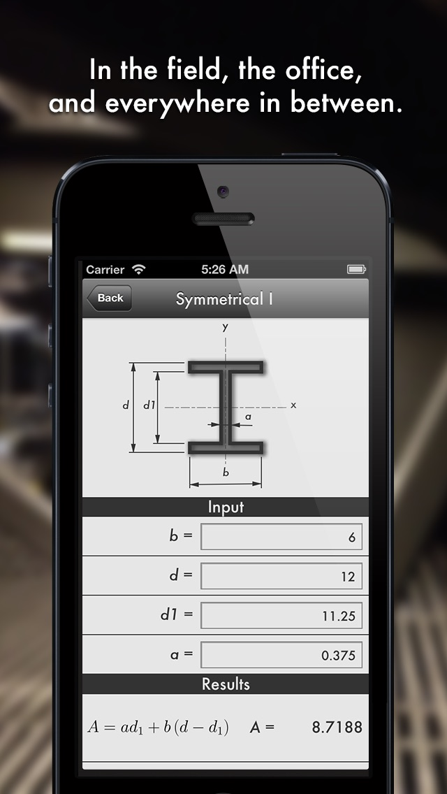Section – Форма калькулятор для инженеров. A shape and section property calculator for structural and civil engineers that fits in your pocket.Скриншоты 2