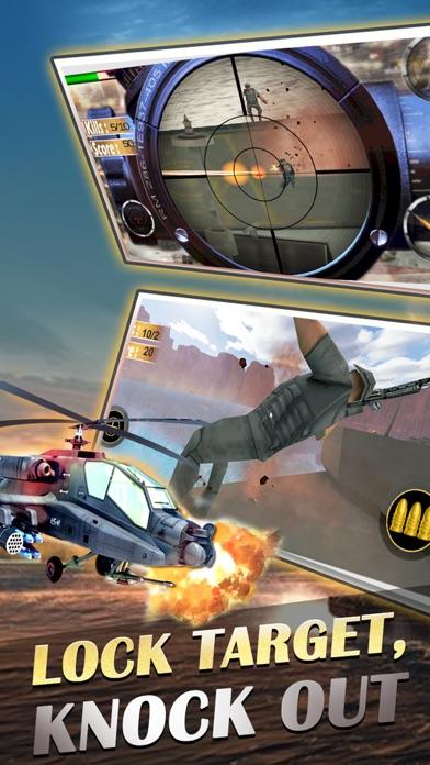 Снайпер вертолет, вертолет съемки 3D: Free FPS линкор войны самолет пушки съемки игрыСкриншоты 4