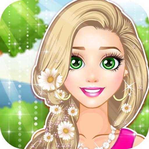芭比娃娃最美长发公主 - 甜心公主爱化妆,灰姑娘美丽日记,女孩免费爱