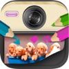 Foto vernice per i bambini: disegno, Scarabocchio, scrivere messaggi e creare note su foto o immagini