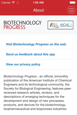 Biotechnology Progress screenshot 1