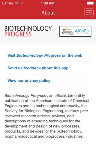 Biotechnology Progress screenshot 1