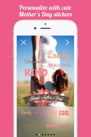 Mothers Day FREE Instant Photo Sticker App screenshot 3