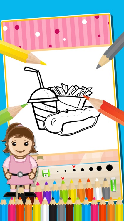 Food Coloring Book Simple Painting Games for Kids by Anothai Luadee