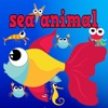 Easy Sea Animals Jigsaw Puzzle Matching Games for Free Kindergarten Games or 3,4,5 to 6 Years Old