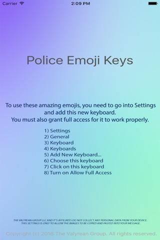 Police Emoji Keys screenshot 3