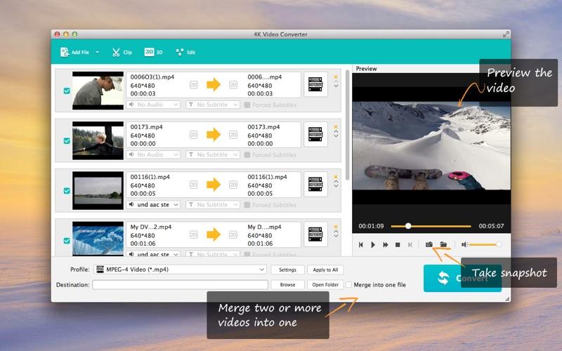 4K Video Converter Screenshots