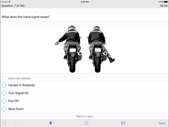 motorcycle operator manual practice test