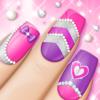 Juego de diseños de uñas de moda: Salon de manicura rosa y salón de belleza para chicas