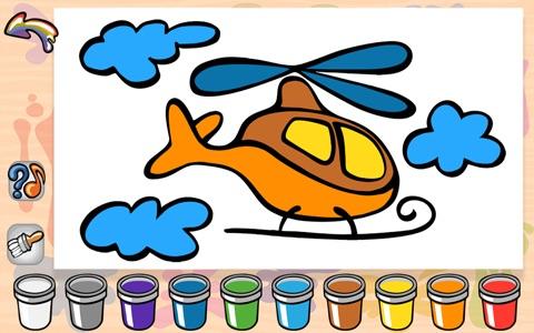 Wesoła kolorowanka - ciekawa rozrywkowo-edukacyjna gra dla dzieci to wspaniała zabawa z rysunkami, kolorami i dźwiękami screenshot 2