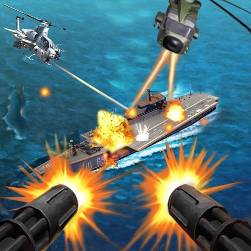 Снайпер вертолет, вертолет съемки 3D: Free FPS линкор войны самолет пушки съемки игры
