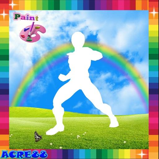 Paint Kids Power Rangers Team Edition iOS App
