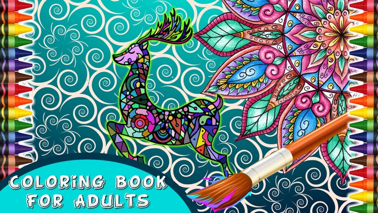 Coloring Book For Adults Free Fun Adult Pages Relax Stress Relief Color Therapy