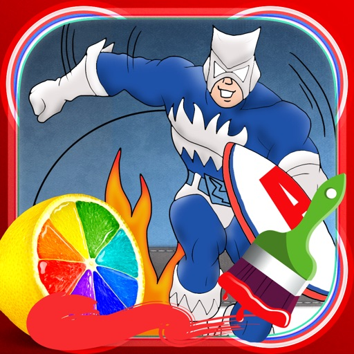 Coloring Book Game: Captain America Edition iOS App