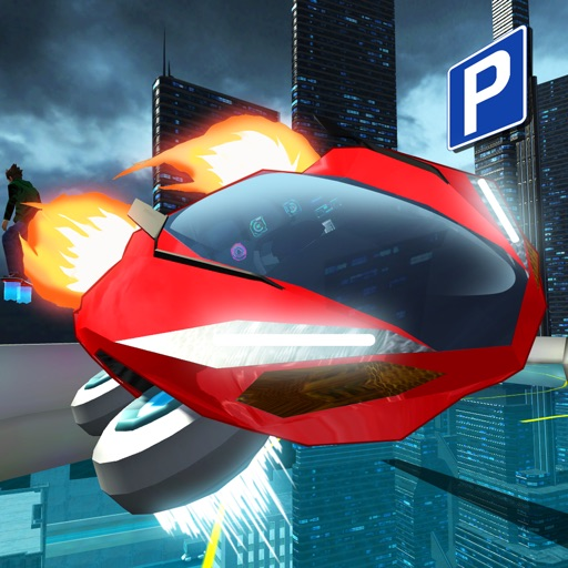 Hover Car Parking Simulator - Flying Hoverboard Car City Racing Game FREE iOS App