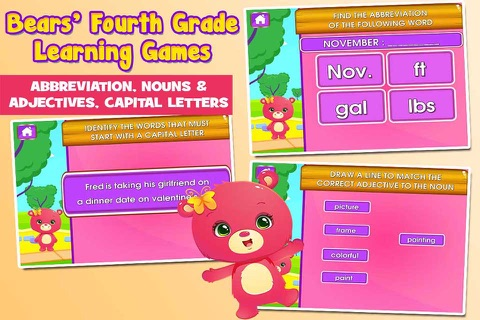 Bears 4th Grade Games School Edition screenshot 2