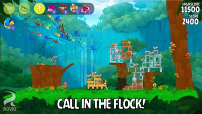 Screenshots of Angry Birds Rio for iPhone