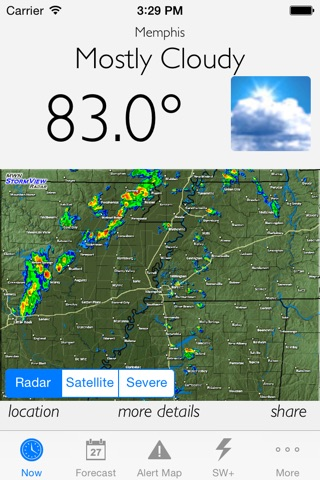 MemphisWeather.net: Weather info for Memphis metro screenshot 1