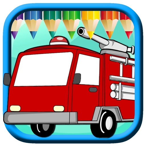 Fire Truck Driver Game For Coloring Page Version iOS App