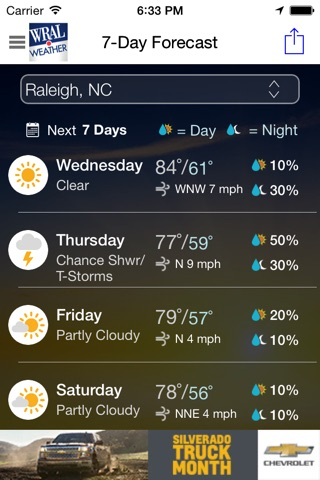 WRAL Weather screenshot 2