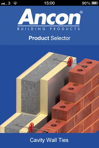 Ancon UK Wall Tie Product Selector screenshot 1