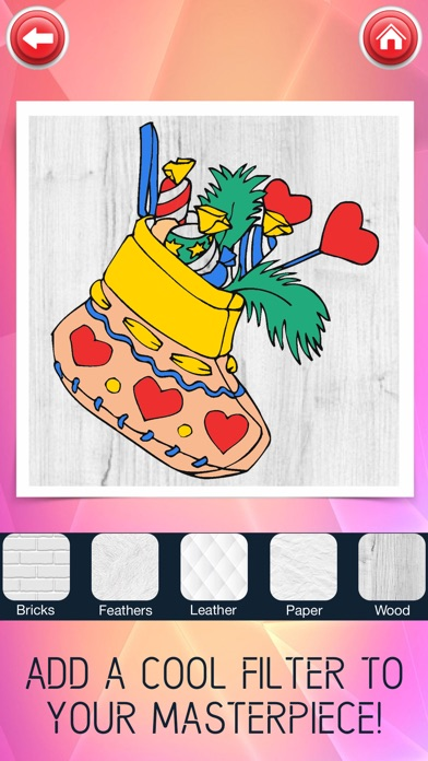 Christmas Coloring Book Free Color Pages Games On The App Store