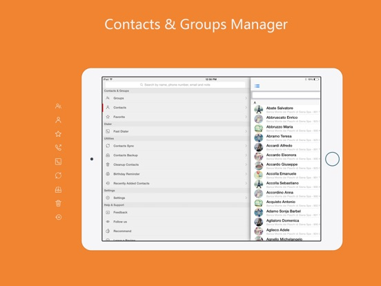 aContacts+ - Contact Manager Screenshots