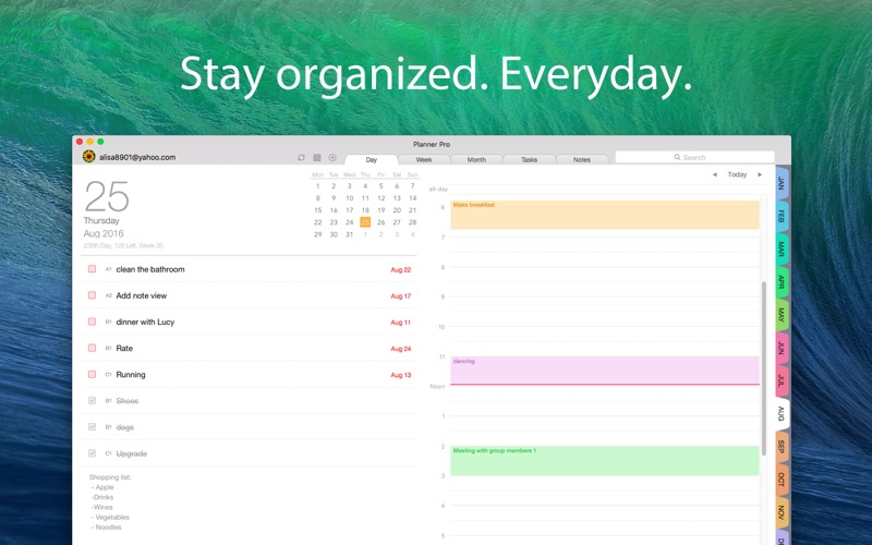 Calendar Planner Mac : Planner pro daily calendar personal organizer on the