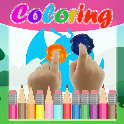Game Paint Coloring Kids for Cute Dragonitego iOS App