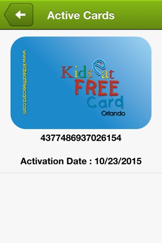 Kids Eat Free Card screenshot 4