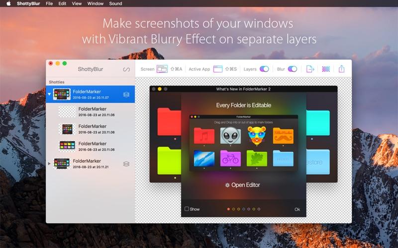 ShottyBlur - Vibrant Screenshots 앱스토어 스크린샷