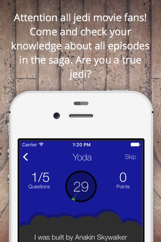 Ultimate Trivia for Jedi - Fun Star Wars Quiz screenshot 1