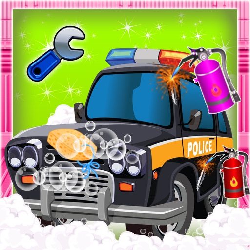 Police Car Repair & Fix it - Auto Vehicle Cleanup iOS App