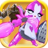 A Pink Knight vs Bionic Heroes