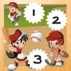 123 Bambini che Giocano Con i Giocatori di Baseball: Imparare il Conteggio
