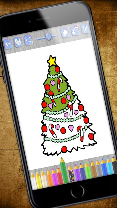 download Paint Christmas magic - Christmas coloring pages - PREMIUM apps 0